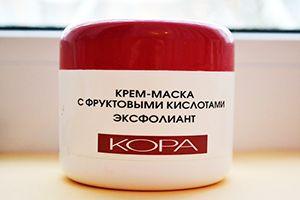 На фото: Маска для лица Кора Эксфолиант с фруктовыми кислотами