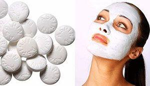На фото: Маска для лица с аспирином